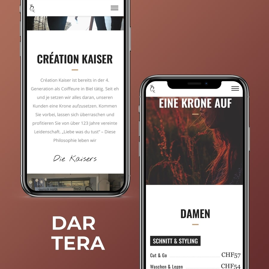 Dartera DarteraWebdesignBern-website-creationkaiserch-mobile Dartera